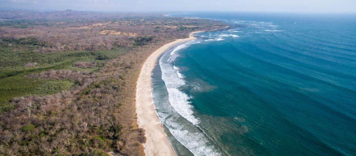 Vista aérea de Playa Langosta